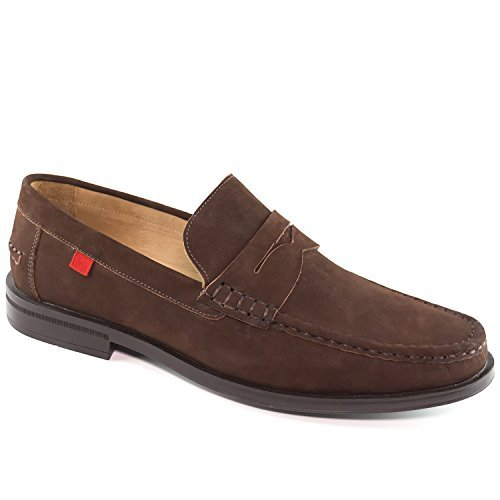 Mens Genuine Leather Made in Brazil Cortland Street Venetian Cafe Nobuck Loafer Marc Joseph NY Fashion Shoes ()