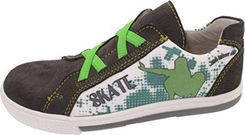 Helgas Modewelt - Zapatillas de senderismo para niño anthrazit-grün (Turino asphalt)