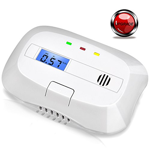 Natural Gas Detector Explosive Gas Alarm Methane Combustible Gas Leak Alarm for Home Prevent Fire Explosions with Sound Warning and Digital Display