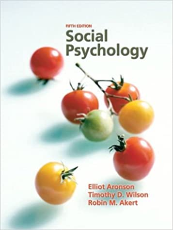 Test bank for social psychology 8th edition by aronson test bank.