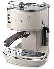 De'Longhi Icona Vintage ECOV 311.BG, Macchina per caffè espresso manuale, 1100 W, Plastica, Beige