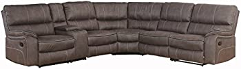 Abbyson Living SK-5962A-GRY-6PC Bolton Sectional Reclining