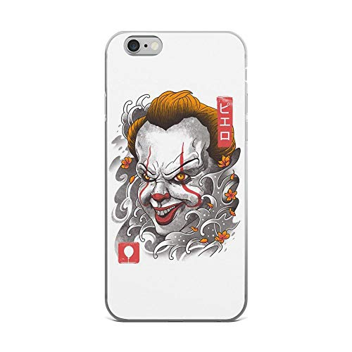 iPhone 6 Plus/6s Plus Pure Clear Case Cases Cover Oni Clown Mask Sumie Japanese Art -