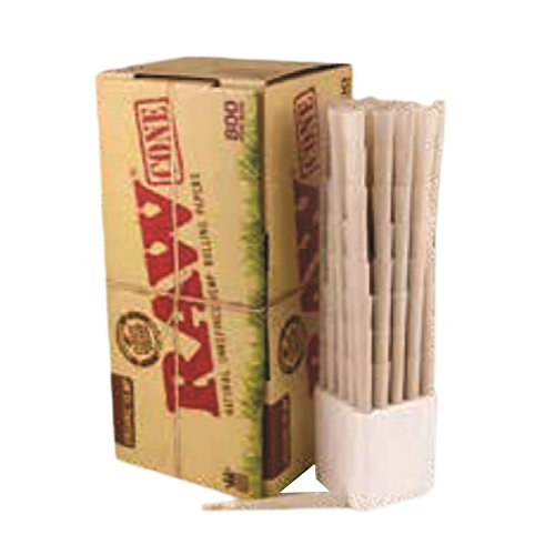 RAW Organic King Size Pure Hemp Pre-Rolled Cones With Filter (800 Pack) by RAW (Image #1)