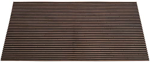 Fresh Home Elements 270011-022 Slat Outdoor mat Door Doormat, Brown Rubber Large
