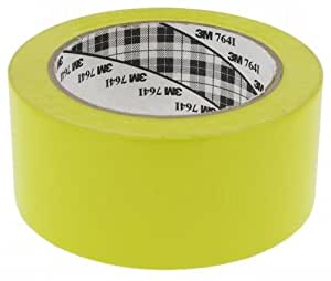 3M 764I - Cinta adhesiva de vinilo, 50 mm de ancho, color amarillo