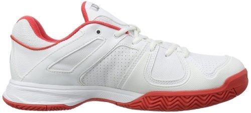 Wilson TEAM W WHITE/WHITE/CHERRY W - Zapatillas De Tenis de material sintético mujer multicolor - Mehrfarbig (White/White/Cherry)