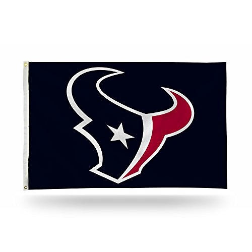 Rico Industries NFL Houston Texans 3-Foot by 5-Foot Single Sided Banner Flag with Grommets