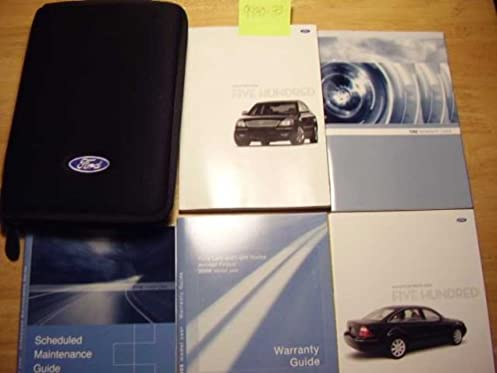 2006 ford five hundred owners manual ford motor company amazon com rh amazon com 2006 Ford Five Hundred Sel 2006 Ford Five Hundred Limited