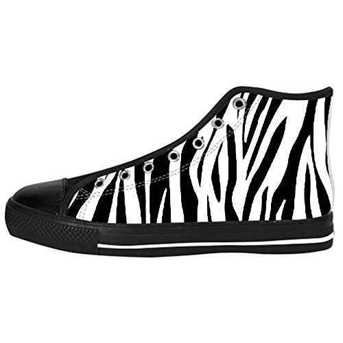 Dalliy zebra stripe Kids Canvas shoes Schuhe Laceup Hightop