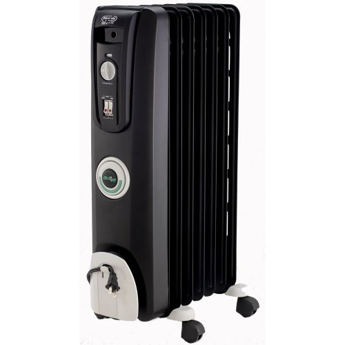 DeLonghi EW7707CB Safe Heat 1500W ComforTemp Portable Oil-Filled Radiator - Black