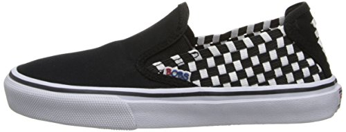 BOBS from Skechers Womens The Menace Dappled Fashion Sneaker,Black/White,7 M US