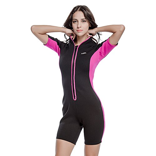 Unisex Short Sleeve 2MM Neoprene Wetsuit Men For Surfing One piece Triathlon Scuba Diving Spearfishing Wetsuit women Surfing (1032 Women, - Wetsuit Triathlon Women