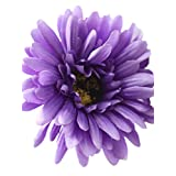 CL 10pcs Silk Artificial Daisy Gerbera Flowers Wedding Bouquet Living Room Office Party Garden DIY Decoration (purple)