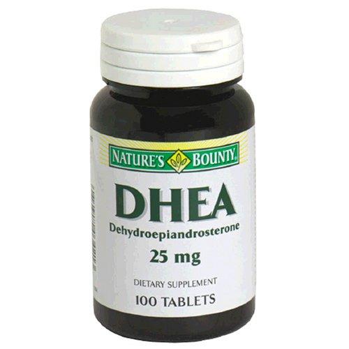 Nature Bounty DHEA 25 mg Comprimés, 100 ct