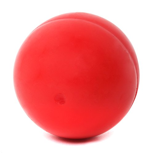 Red Ball Toy : Hbuir dog bouncy solid rubber ball training playing chew