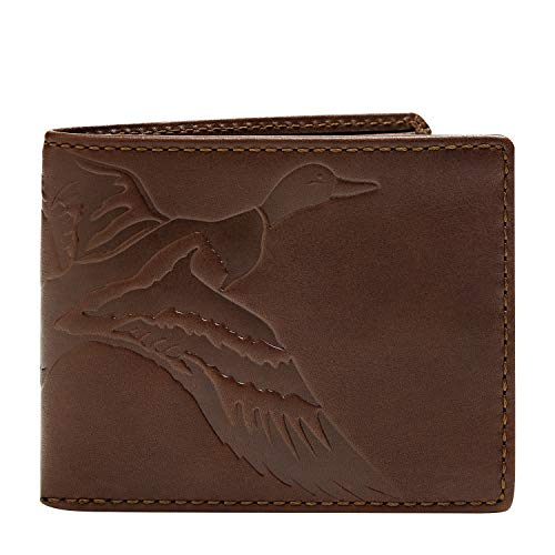 HOJ Co. DUCK Men's Leather Bifold-Full Grain Leather-Mens Leather Wallet-Duck Hunter Gift