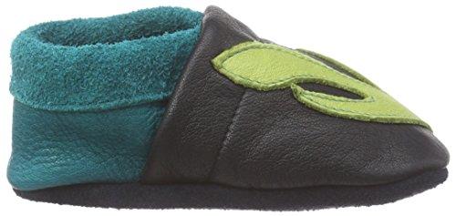 Pololo POLOLO Schildkröte Emma - pantuflas de cuero Niños^Niñas azul - azul (azul/verde)