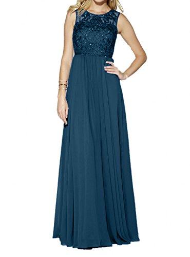 A Chiffon Abendkleider Pailletten Brautmutterkleider Charmant Blau Dunkel Partykleider Rock Blau Damen Royal linie Langes wR8wfBzq