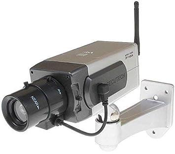 Falsos Dummy CCTV Cámara Detección de Movimiento Sensor de Movimiento motorizado Pan LED