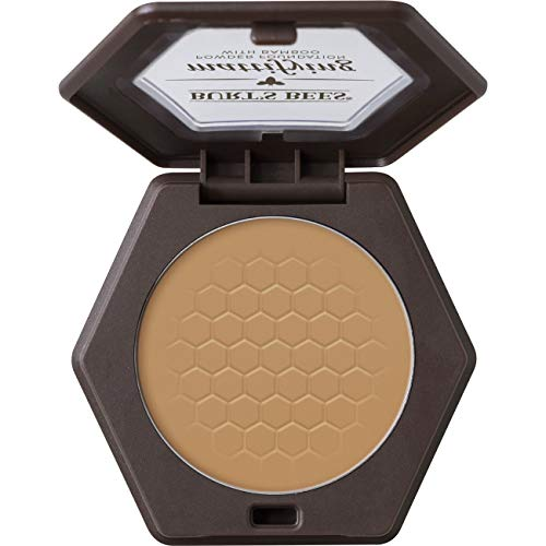Burt's Bees 100% Natural Origin Mattifying Powder Foundation, Nutmeg - 0.3 Ounce