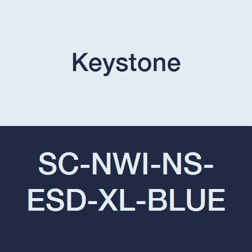 Keystone SC-NWI-NS-ESD-XL-BLUE Polypropylene Non-Skid Shoe Cover, With White Tread and Conductive Carbon, XL, Blue (Pack of 300)
