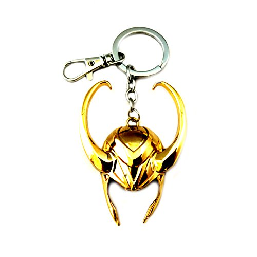 Athena Brand Loki Marvel Comics Key Ring Keychain for House Boat Auto Keys -