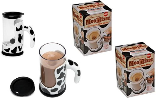 Moo Mixer - Push Button Chocolate Milk Mixer x 2 -