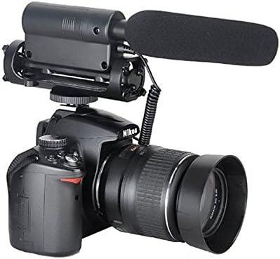 First2savvv SGC-598 Micrófono Video Estéreo Escopeta para Nikon ...