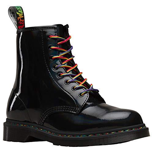 Dr. Martens Unisex 1460 Rainbow Patent Black Boot - 4 ()