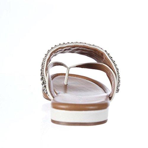 Arturo Chiang Lyra Flip Flop Sandals - White, White, Size 4.5 US/UK 3 US