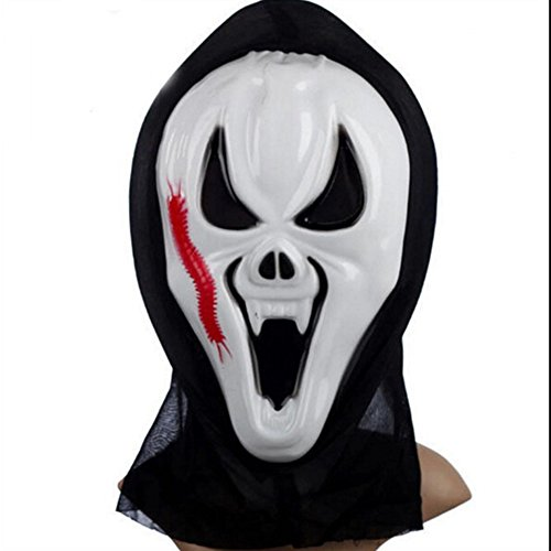Oufeisha Halloween Ghost Centipede Scream Costumer Party Mask Scary Ghosts (Masque D'halloween De Vampire)