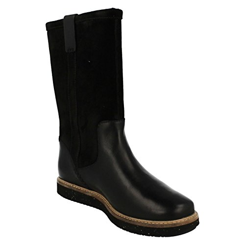 Clarks Casual Black Elmfield Combi Glick Boots Pull Womens On xafaZrt