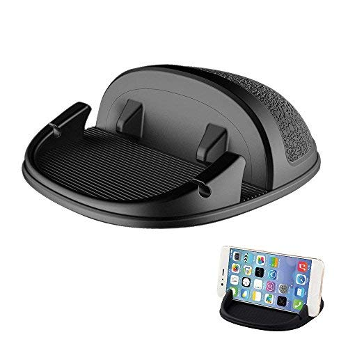 (Car Phone Mount Holder,Non-Slip Silicone Pad Dash Mat Phone Holder Car GPS Cradle Dock Dashboard with Cable Slot Design for iPhone,Samsung Galaxy,Google Nexus and Other Cell Phones or GPS)