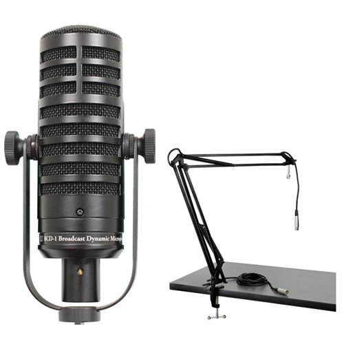 MXL BCD-1 Live Broadcast Dynamic Microphone Podcaster Package by MXL