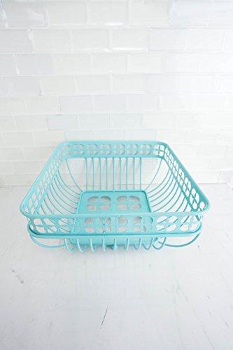 Home Basics Trinity Fruit Basket Square, Turquoise by Home Basics (Image #3)