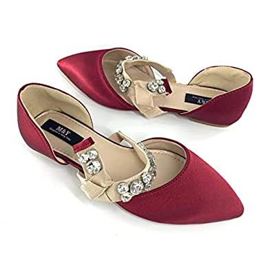 M&Y Women's Flat Shoes -Red