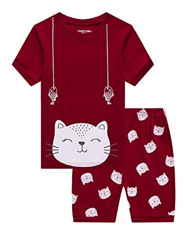 Family Feeling Little Boys Cat Summer Pajamas Short Sets 100% Cotton Kid 5