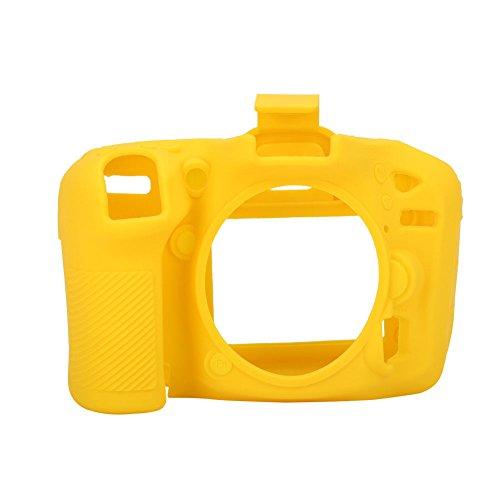 Yellow Rubber Camera Case Bag for Nikon D7100 D7200 - 2