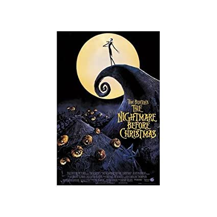 the nightmare before christmas poster moon new 24x36 - The Nightmare Before Christmas Poster