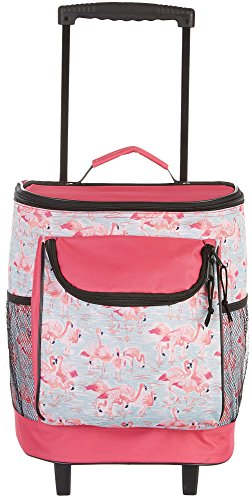 pink cooler with wheels - 1