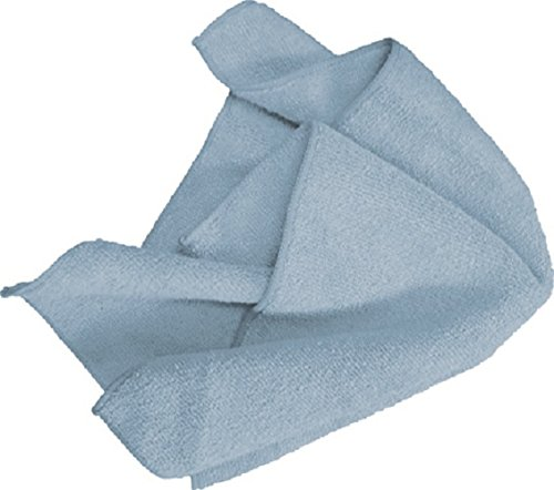 AMMEX - MF50G16X16BL - Microfiber Towel - Fast Absorbing, Soft and Lint Free, Machine Washable, Blue (Case of 144) by Ammex