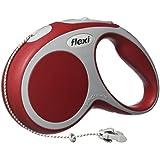 flexi Vario Small Retractable Dog Leash Cord 16'/5m, Red