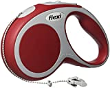 Flexi Vario Retractable Dog Leash (Cord), 16 ft, Small, Red