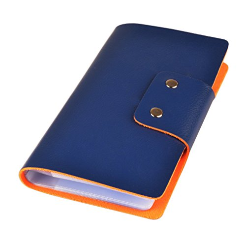 Leatherette Business Card / Credit Card Organizer Book (96 cell, Marine - Card Neat Business