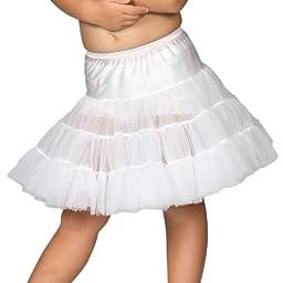 I.C. Collections Big Girls White Bouffant Half Slip Petticoat, 10