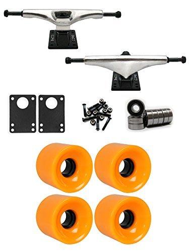 コア7.0 Longboardトラックホイールパッケージ62 mm x 51.5 MM 83 A 804 Cオレンジ [並行輸入品]   B078WW8JL5