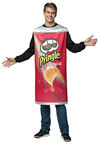 UHC Men's Pringles Can Outfit Funny Comical Theme Party Halloween Costume, -