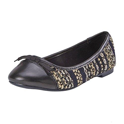 De Mujer Zapato Tela Para Con Damara Para Lazo Oficina Plano Zapatos wqACRBW1