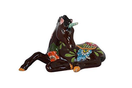 Cheap  Unicorn Ceramic Talavera Horse Home Kitchen Patio Garden Animal Design Décor Pottery